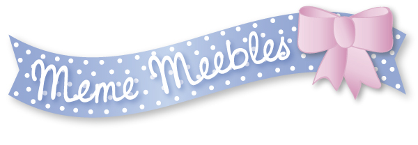 Meme Meebles logo designed by Gaynor Carr at The Smart Station