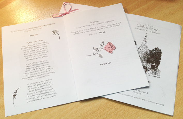 Wedding Stationery designed by The Smart Station Sheffield